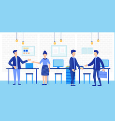 coworking open space with creative office people vector image