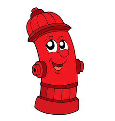 Cute red fire hydrant vector