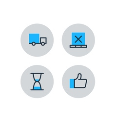 Delivery logistics serveces icons set move boxes vector