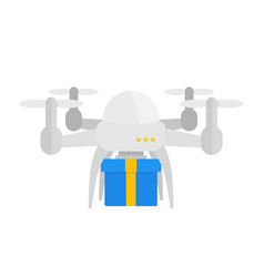 drone delivery vector image