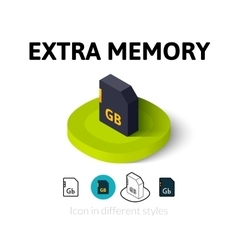 Extra memory icon in different style vector