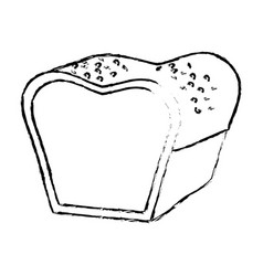 figure delicious fresh bakery bread food vector image