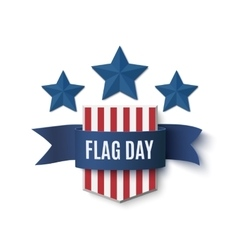 Flag Day background template vector