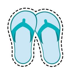 flip flops icon image vector image