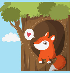 fox in cave vector image