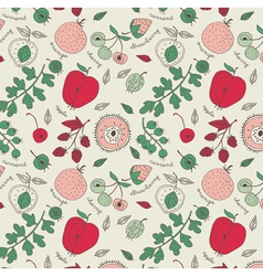 fruit wallpaper background vector image