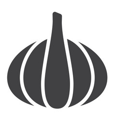 Garlic solid icon vegetable and diet vector