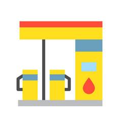 Gas station petrol station filling station vector