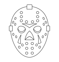 Goalkeeper mask icon outline style vector