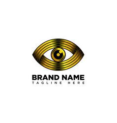 Golden eye logo design template vector