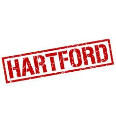 Hartford red square stamp vector