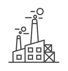 heavy industry plant linear icon vector image