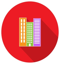 High-rise building residential apartments Property vector