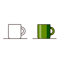 icons for teacup vector image