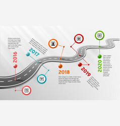 Infographic timeline template with marks vector