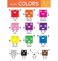 Kids Basic Colors Chart vector