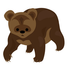 little brown bear icon cartoon style vector image