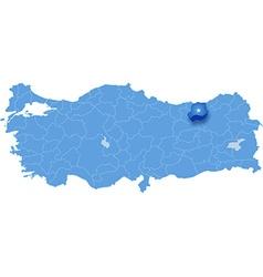 Map of Turkey Bayburt vector