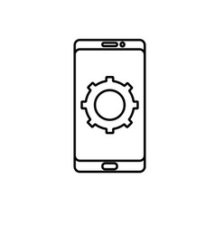 mobile configuration icon vector image