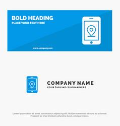 Mobile internet location solid icon website vector