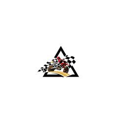 Motocross logo icon vector