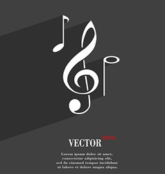 musical notes symbol Flat modern web design with vector image