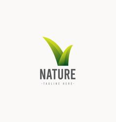 Nature logo icon template design vector