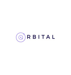 orbit orbital logo vector image