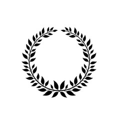 ornate victory wreath symbol black laurel symbol vector image