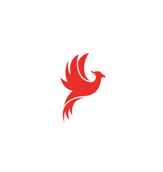 Phoenix flying bird and eagle open wings logo icon vector