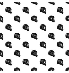 Racing helmet pattern vector