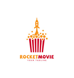 Rocket movie logo vector