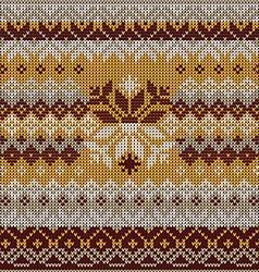 Scandinavian seamless knitted pattern colors vector