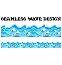 Seamless blue wave design vector