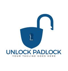 Security lock logo vector