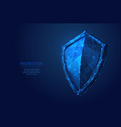 shield low poly blue vector image