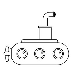 submarine icon outline vector image