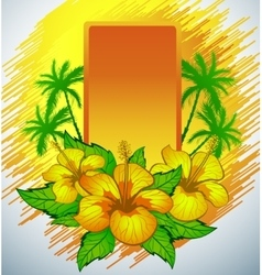 Summer background with palms vector