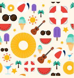 summer concept seamless pattern background flat vector image