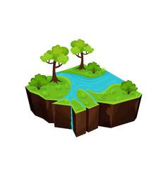summer natural landscape with river fantastic vector image
