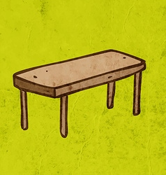 Table Cartoon vector image