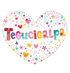 tegucigalpa the capital of honduras vector image
