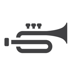Trumpet glyph icon music and instrument vector