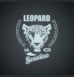 Vintage retro logo with leopard vector