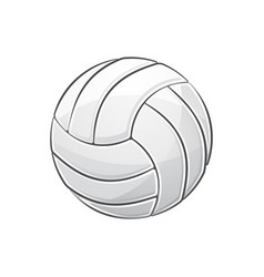 volleyball with stroke vector image
