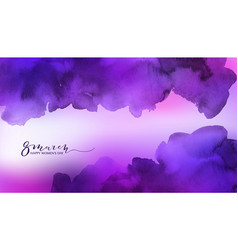 Watercolor pink and violet background vector