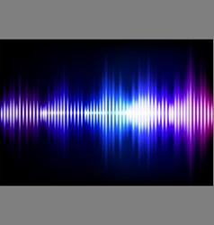 wave sound neon background music flow vector image