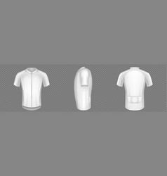 white mockup of men cycling jersey vector image