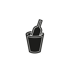wine bucket drink alcohol sign symbol - party vector image