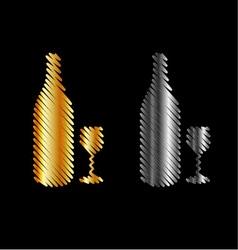 Branding identity corporate beverage logo in gold vector image vector image